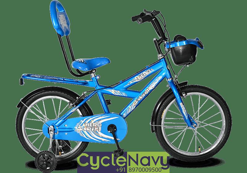Hero Swirl Hiriser 18t Blue Kids Bicycle Cyclenavy